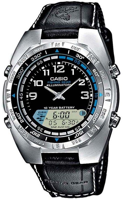 часы рыболова casio amw-700
